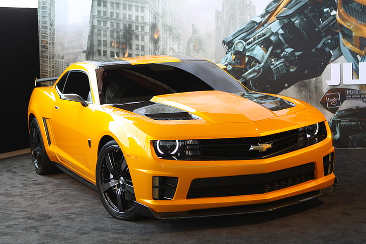 Make your screen stand out with the latest bumblebee transformers 4 age of extinction wide wallpapers! 2012 Bumblebee Camaro Transformers Hd Wallpaper Wallpaperbetter