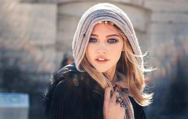 Sasha Pivovarova, wanita, pirang, mata biru, model, syal, wajah, Wallpaper HD | Wallpaperbetter
