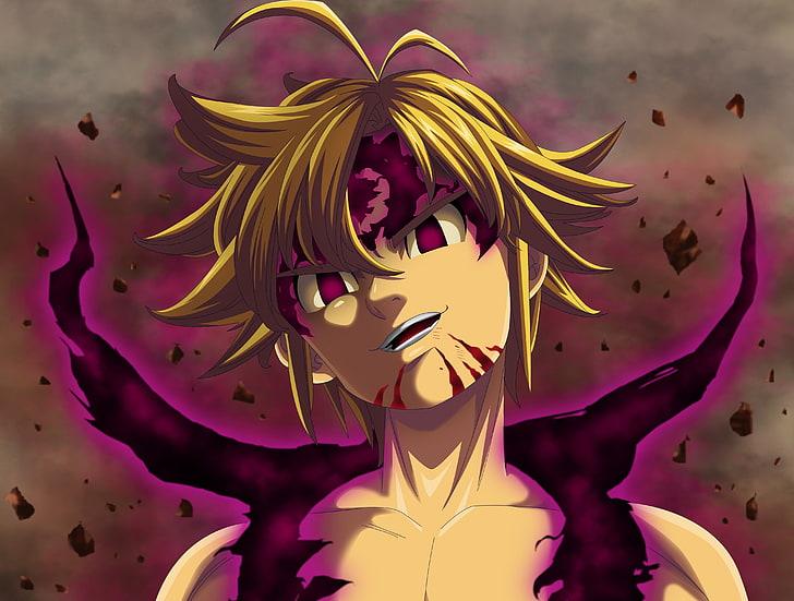 Brown Haired Male Anime Character Wallpaper Anime Warrior Manga Meliodas Hd Wallpaper Wallpaperbetter