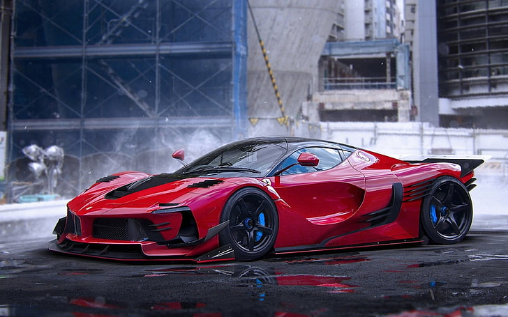Many drivers ask is insurance higher on red cars? when choosing which color they want for their vehicle. Speedy Car Red Car Coupe Car Sport Car Hd Wallpaper Wallpaperbetter