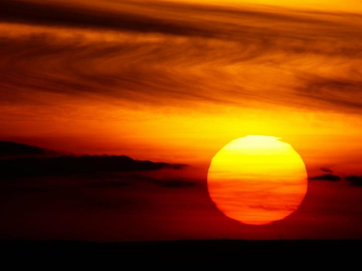 日沒, 太陽, 赤い太陽, 日光, 赤, 赤空, 砂漠, HDデスクトップの壁紙 | Wallpaperbetter