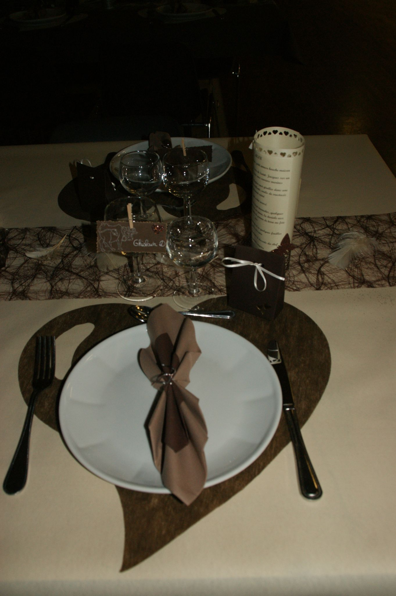 Dcoration MARIAGE IVOIRE CHOCOLAT Crations Originales