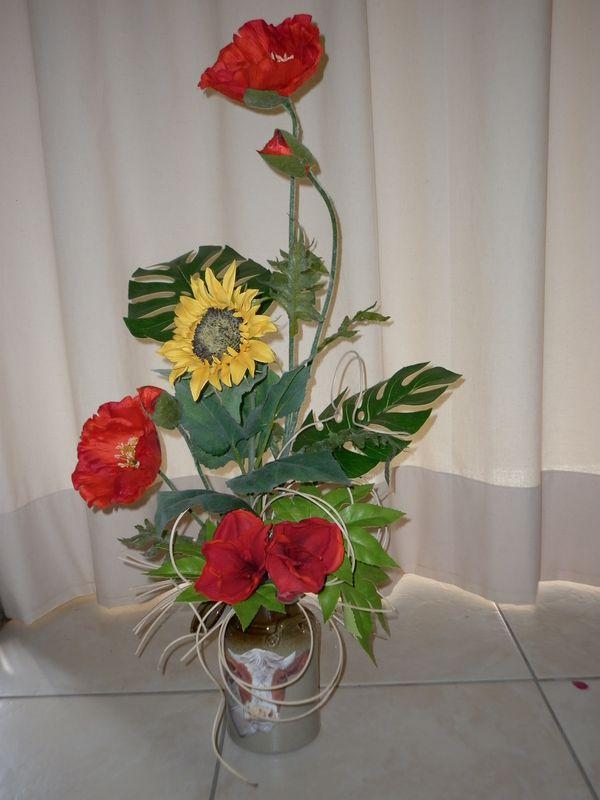 Composition florale divers supports  Les crations dco de Marsouille