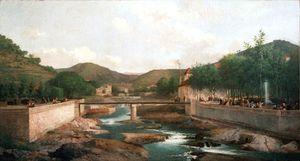 Vals en 1883, hst 400 x 240cm , mairie de Vals-les-Bains