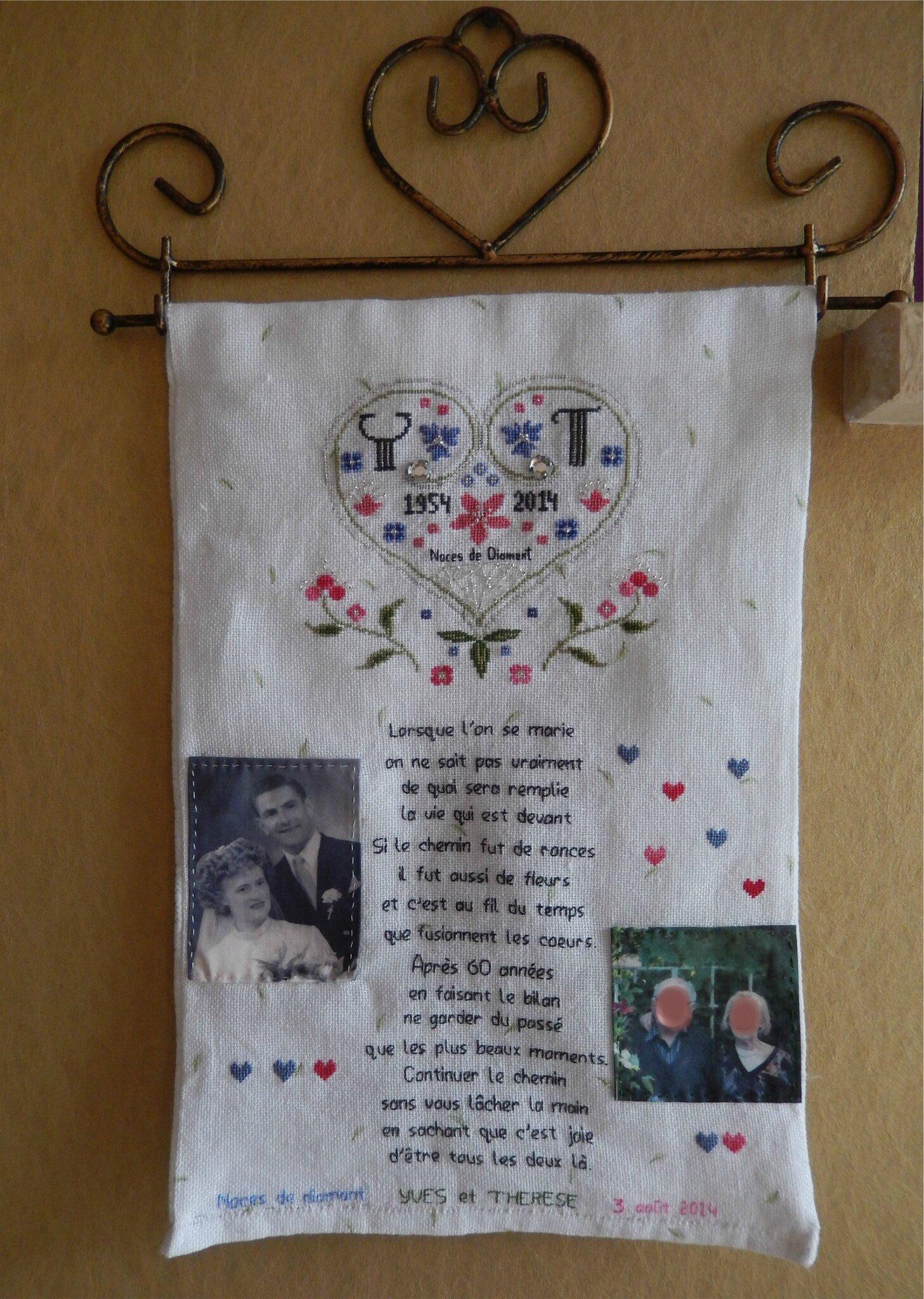60 Ans De Mariage Noce De : mariage, Noces, Diamant, Brode...