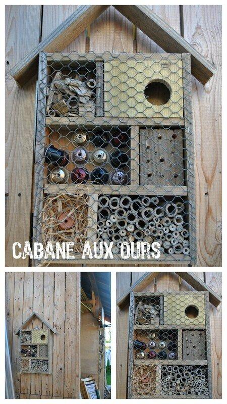 Hotel  insectes avec des planches de palette  by family   La Cabane aux Ours