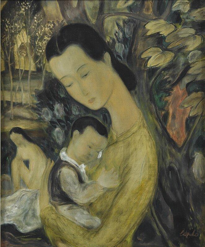 Lê Phổ (1907-2001), Maternité (Maternity), 1948