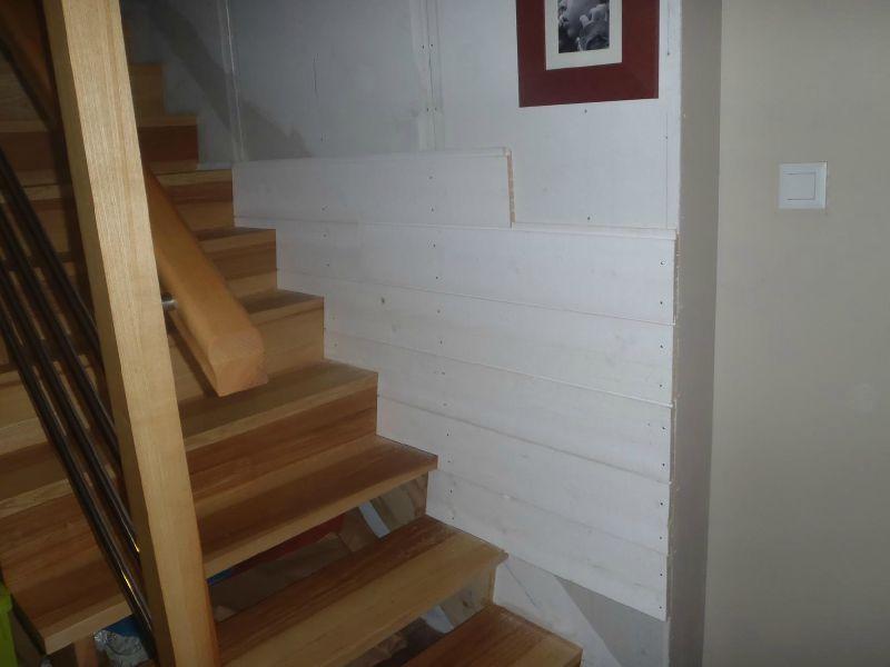 Lambris escalier  partie basse  MAISON BOIS DANNICK ET MICHEL
