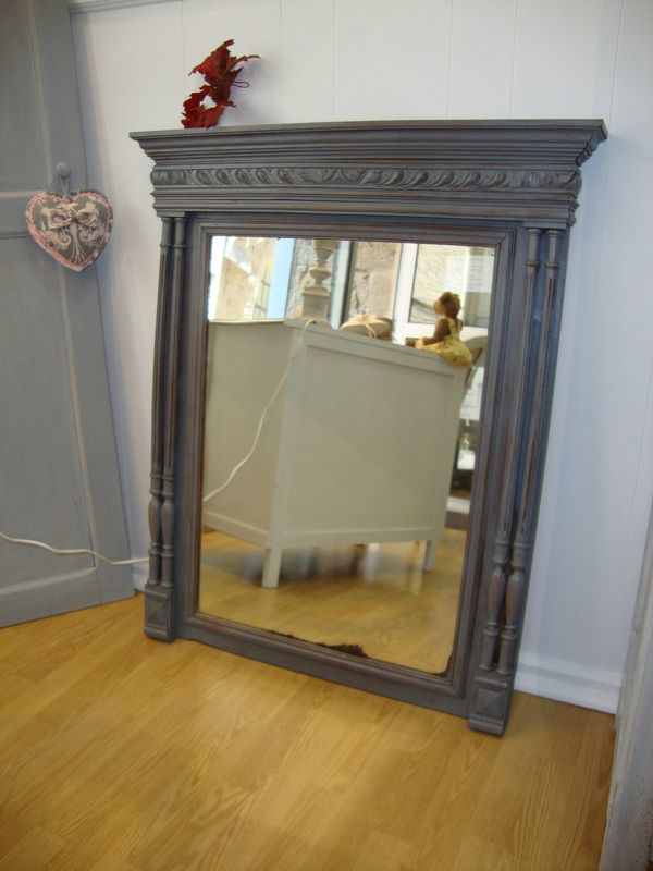 Trumeau miroir ancien taupe  Krative Dco