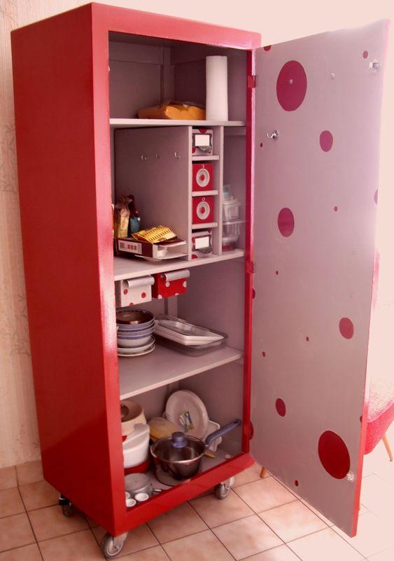 meuble de rangement cuisine a roulettes