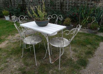 Table De Jardin Romantique Metal