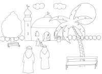 Coloriage Ramadan Mosque 3
