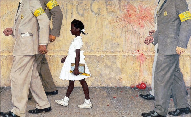 The problem we all live with by Norman Rockwell  Mrs Cantegrits English class