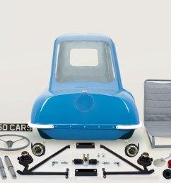 p50 car replica kit parts spares 1962 blue isle [ 1920 x 980 Pixel ]