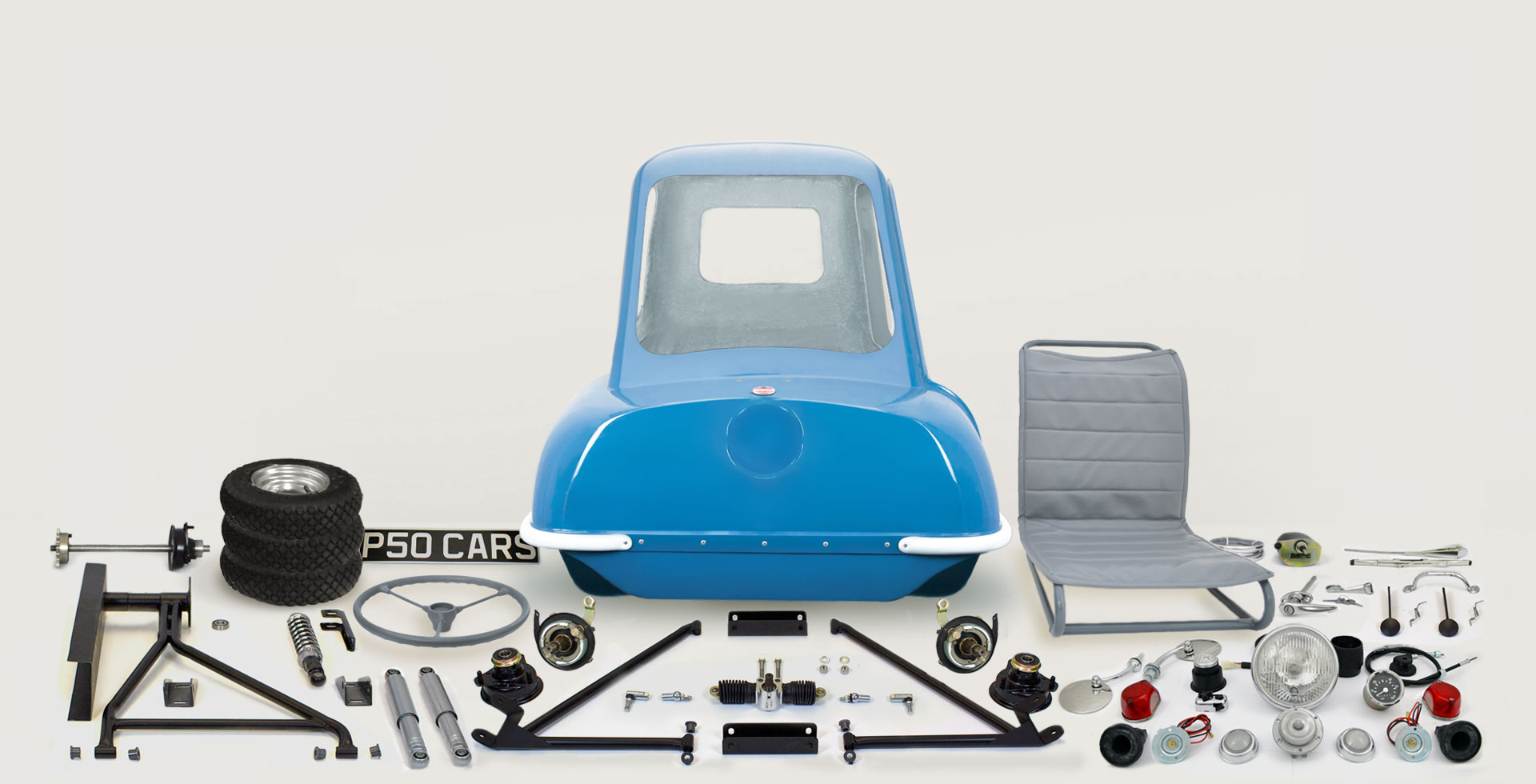 hight resolution of p50 car replica kit parts spares 1962 blue isle