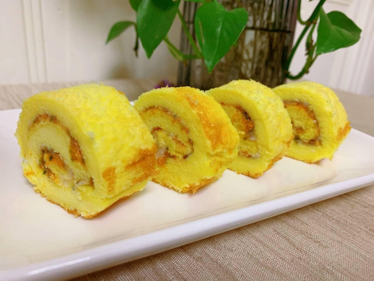 原創             【蔥花肉鬆蛋糕卷】的做法+配方,這個口味小孩很愛吃,美味好吃