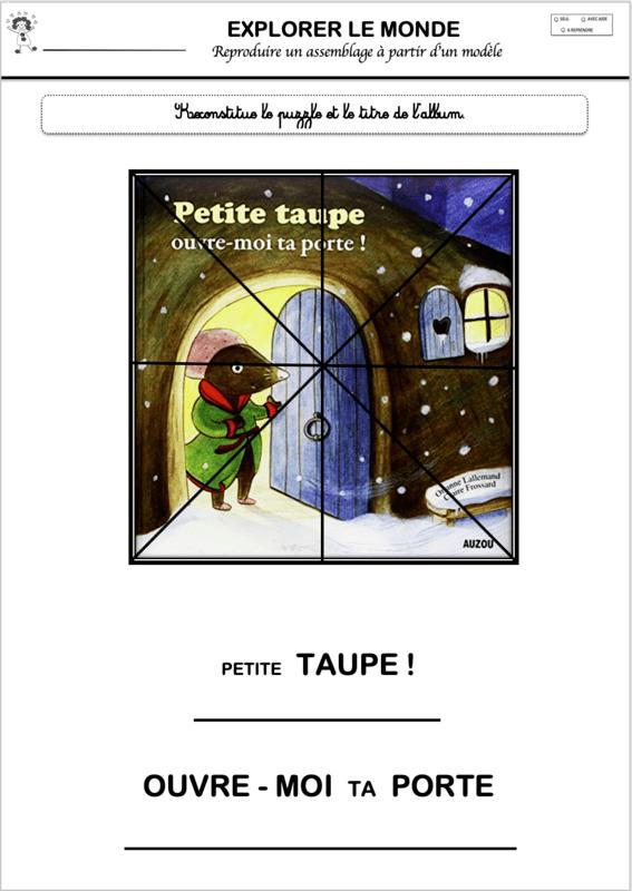 Petite Taupe Ouvre Moi Ta Porte Exploitation Maternelle : petite, taupe, ouvre, porte, exploitation, maternelle, NARRAMUS, Petite, Taupe, Ouvre-moi, Porte!, Maternelle