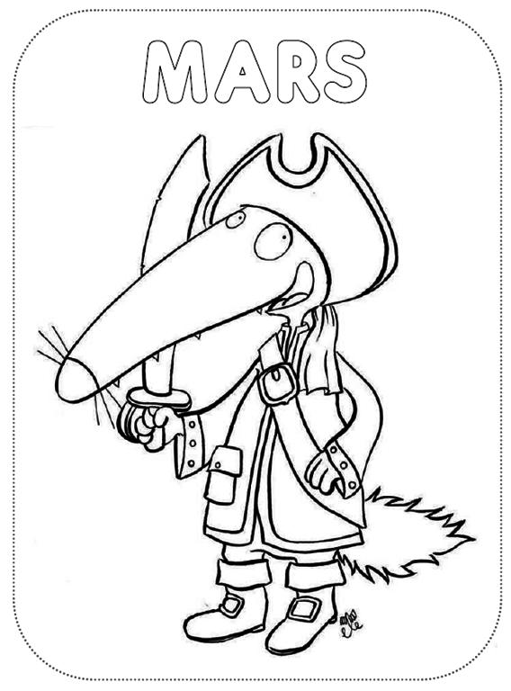 Le Loup Qui Voulait Faire Le Tour Du Monde Coloriage : voulait, faire, monde, coloriage, Coloriage, Voulait, Faire, Monde, Ideas