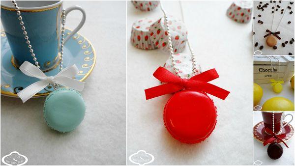 Bijoux gourmands collier sautoir Macaron - nouveaux modèles