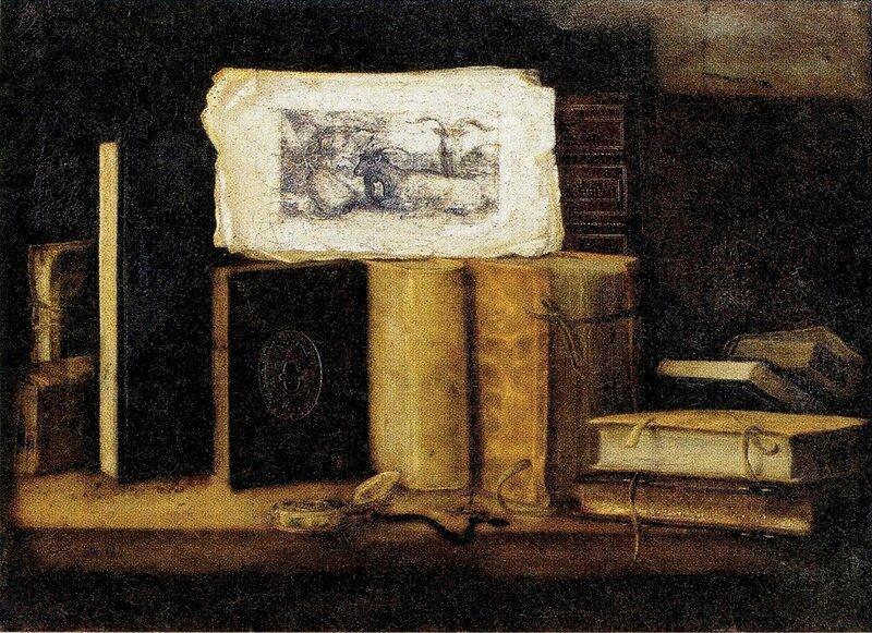 Vanité au livres, hst 51,5 x 61cm Vt Beaussant - Lefevre,Paris le 08