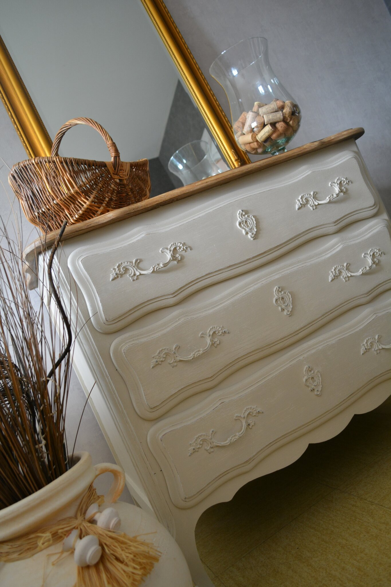 commode en chene campagne shabby chic