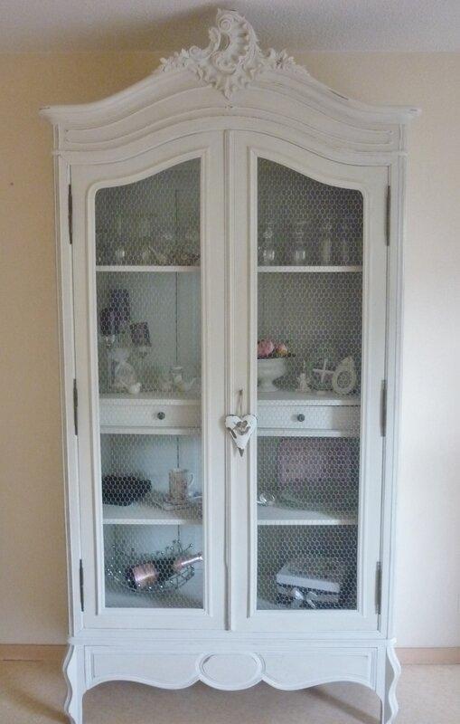 Mueble Antiguo Restaurado Blanco
