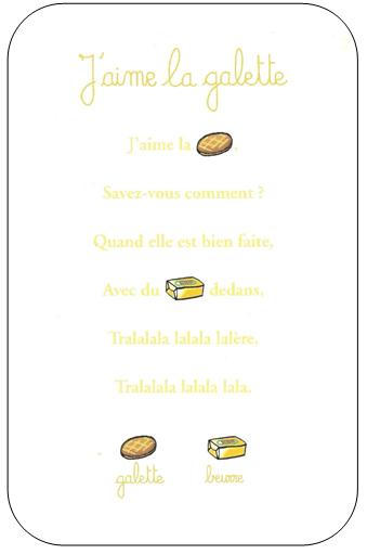 Chanson J Aime La Galette : chanson, galette, J'aime, Galette, Maternelle