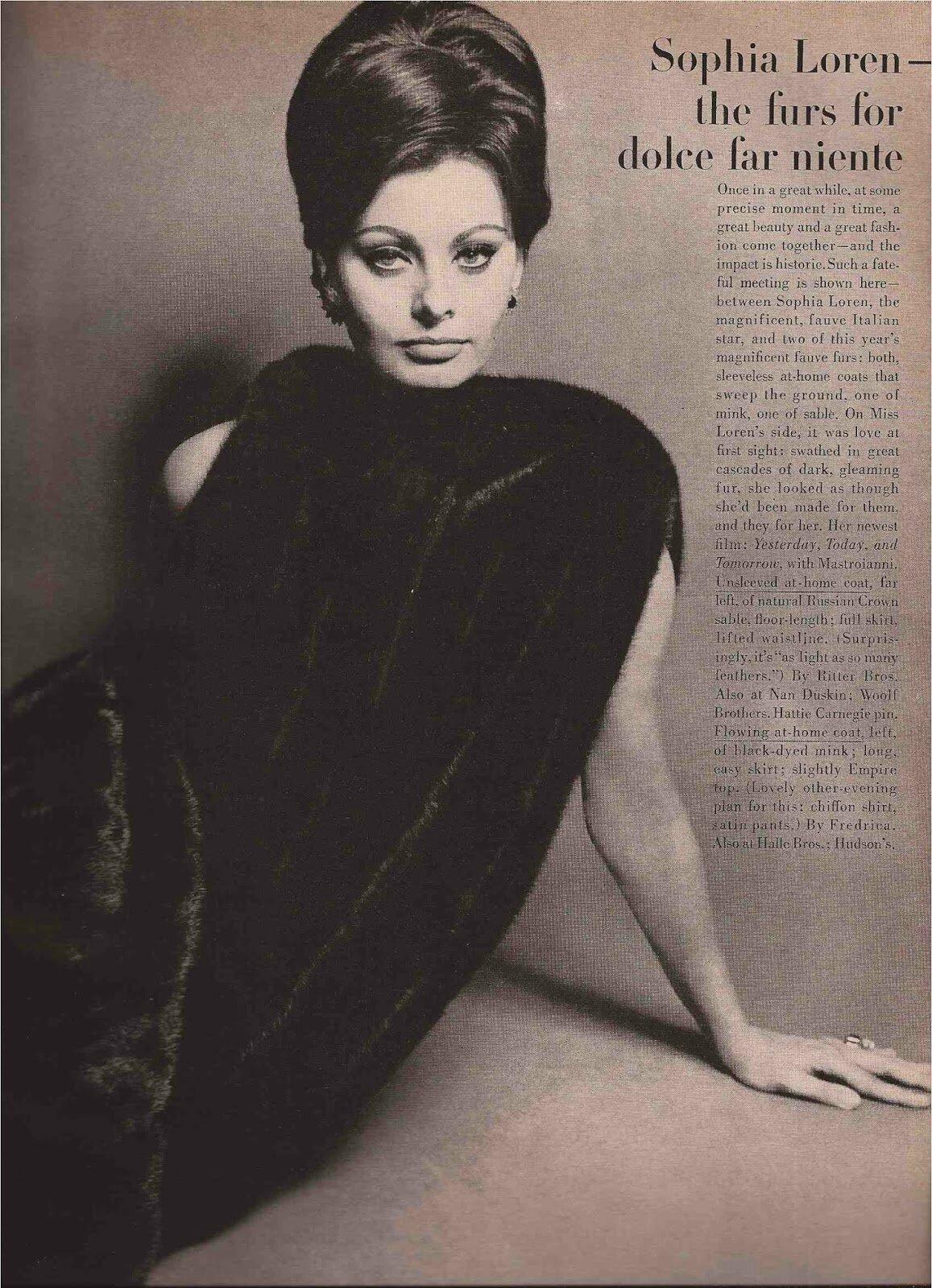 Sophia Loren par Bert Stern  Girl Dont Come