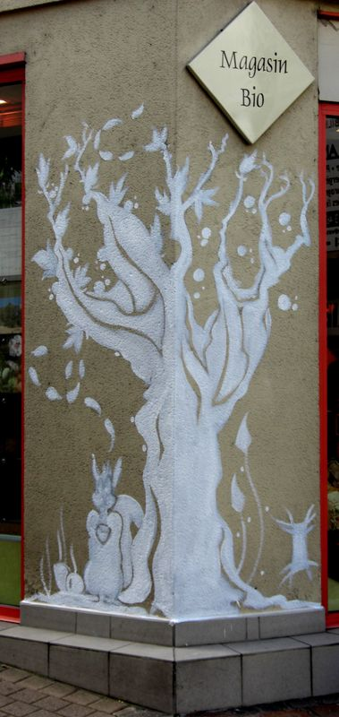 Fresque murale Arbres bios  Album photos  krl galerie