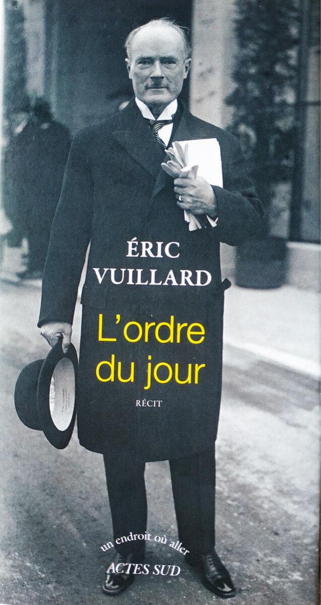 L'ordre Du Jour Eric Vuillard : l'ordre, vuillard, L'ordre, Vuillard, Delà, Surface, Lisse, Choses