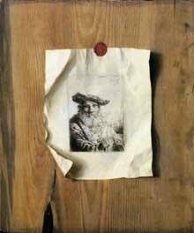 STOSK trompe l'oeil , avec gravure de ferdinand Bol, 1642, Vaduz, Lichtenstein
