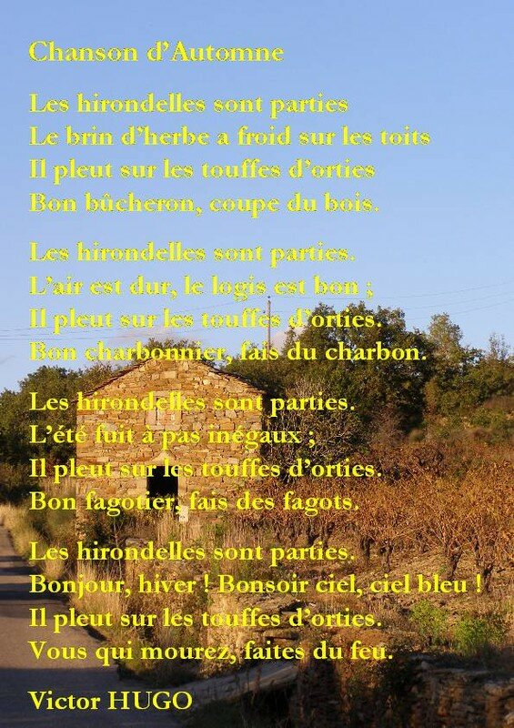 Chanson D Automne Victor Hugo : chanson, automne, victor, Chanson, D'Automne, Poèmes, Chats