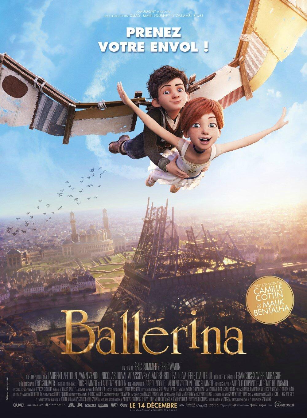 Film A Voir Avant 10 Ans : avant, CONCOURS, BALLERINA, Places, Gagner, Très, D'animation, Danse, Baz'art, Films,, Livres...