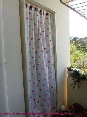 nouveau rideau pour le balcon avec un