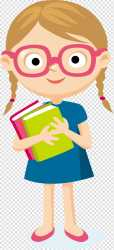 Student Cartoon student girl carrying two books illustration transparent background PNG clipart HiClipart