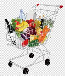 Cart of groceries illustration Shopping cart Supermarket Shopping Cart transparent background PNG clipart HiClipart