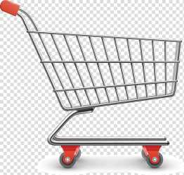 Gray and red shopping cart Shopping cart Packaging and labeling Shopping Cart Decorative transparent background PNG clipart HiClipart
