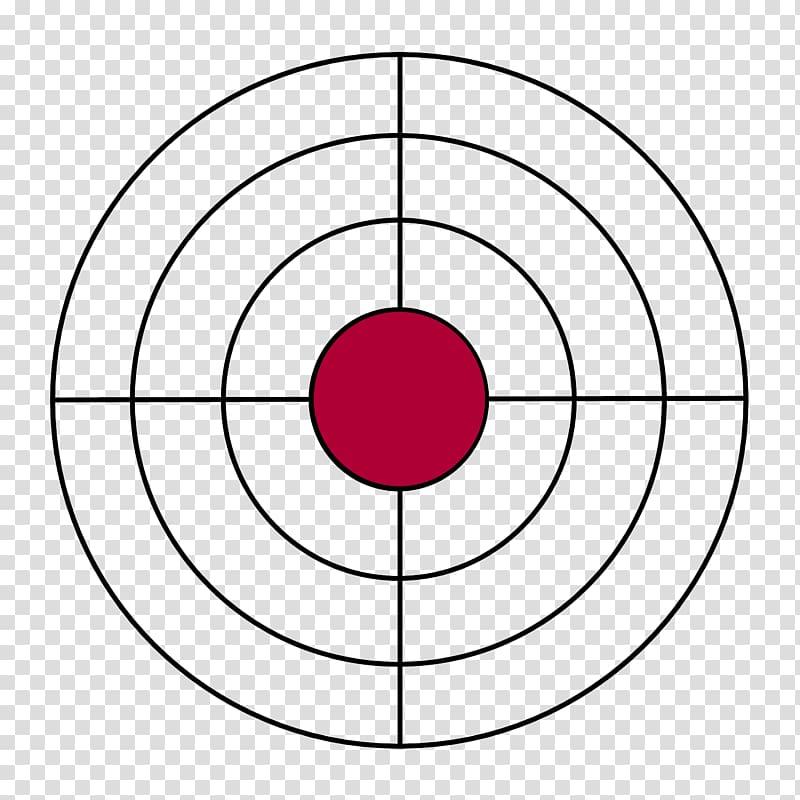 Black and red target art, Shooting target Bullseye BB gun