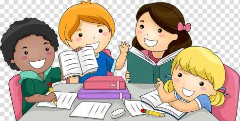 Child Students group of children studying illustration transparent background PNG clipart HiClipart