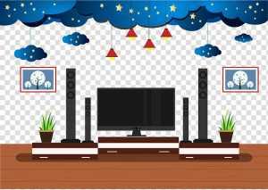 living clipart tv background adobe creative illustrator flat transparent entertainment illustration system hiclipart vector