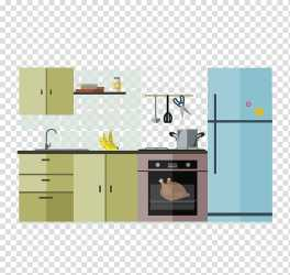 Interior Design Services Kitchen Furniture Cartoon Kitchen transparent background PNG clipart HiClipart