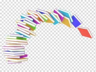 Book A stack of books transparent background PNG clipart HiClipart