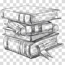 Pile of books illustration Drawing Book Sketch book transparent background PNG clipart HiClipart