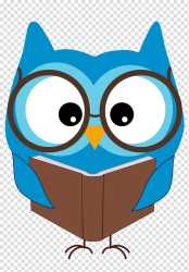 Blue bird reading book art Book Reading Book transparent background PNG clipart HiClipart