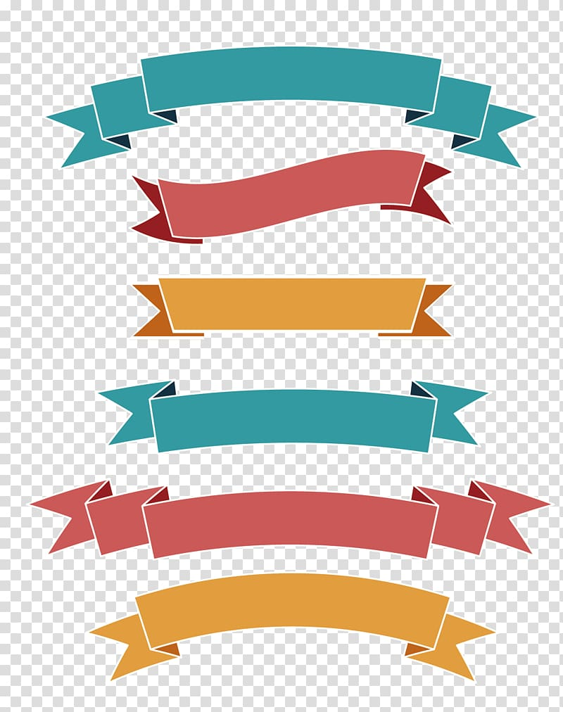 Banner Ribbon Png : banner, ribbon, Multicolored, Ribbons, Illustration,, Ribbon, Label, Banner,, Simple, Transparent, Background, Clipart, HiClipart