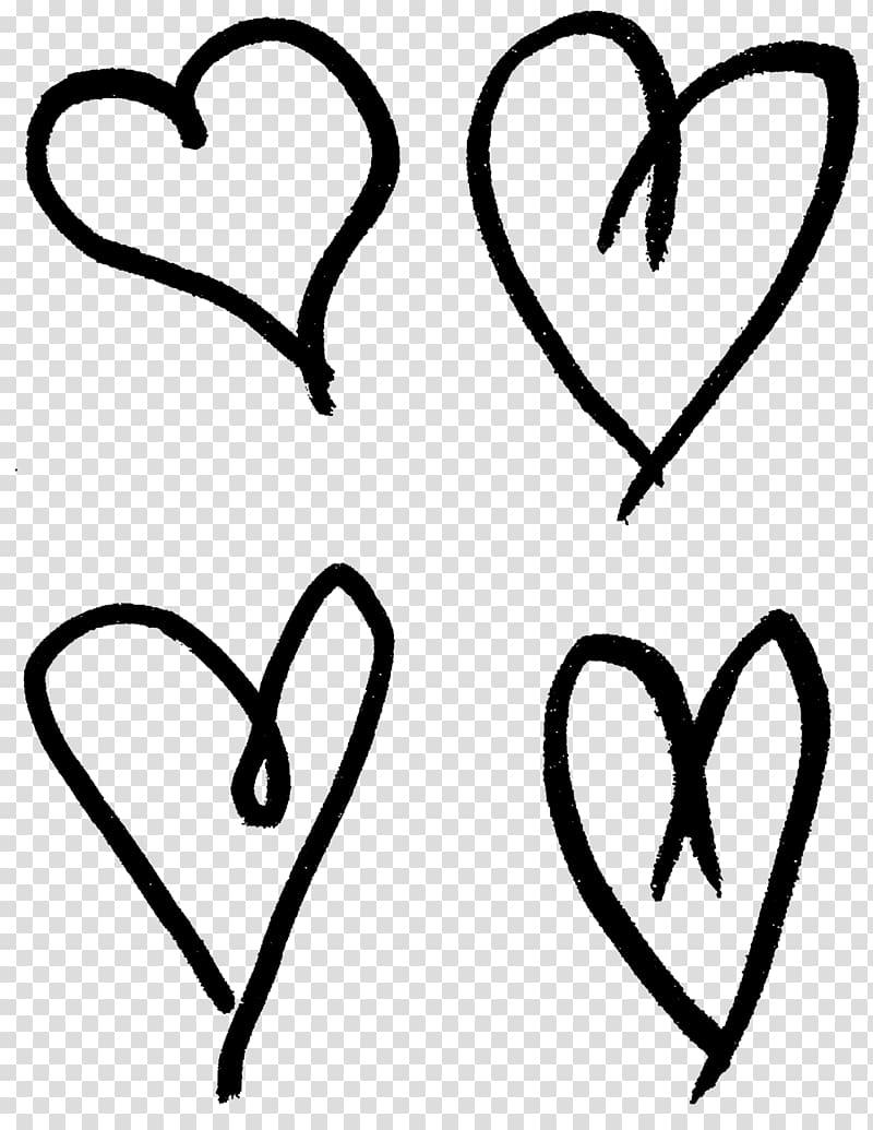 Heart Drawing Png : heart, drawing, Heart, Drawing, Drawn, Transparent, Background, Clipart, HiClipart
