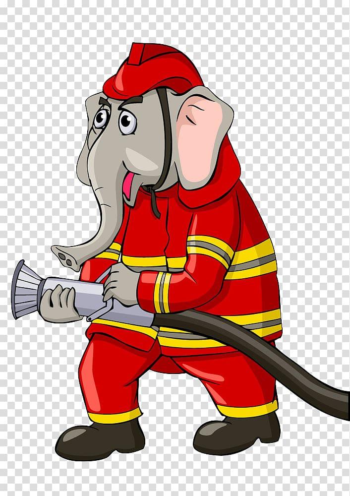 firefighter cartoon fire department