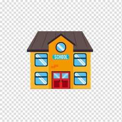 Student School Cartoon Illustration Cartoon school building transparent background PNG clipart HiClipart