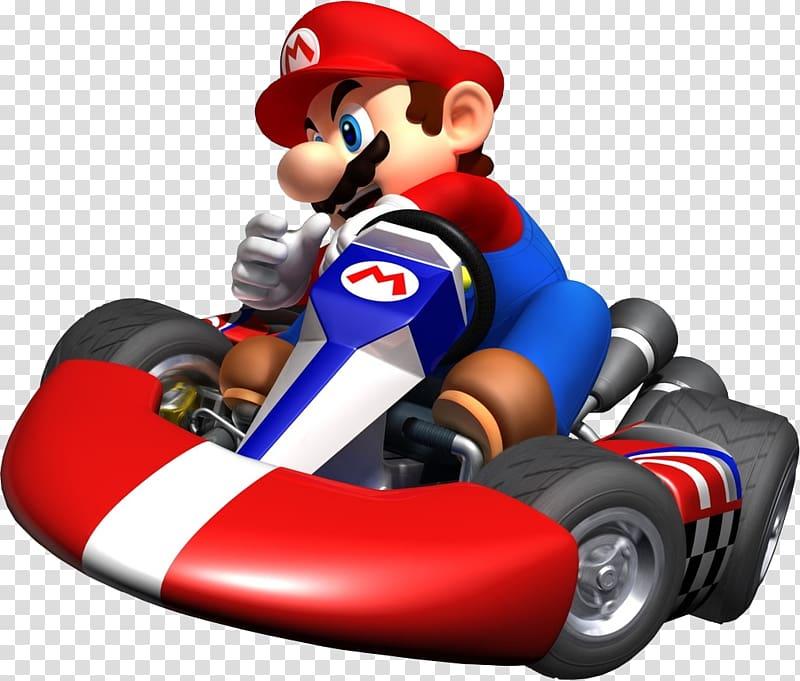 luigi riding go kart