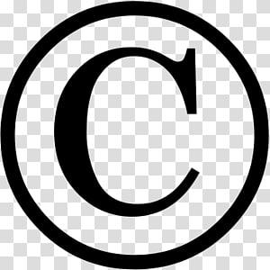 copyright symbol transparent background